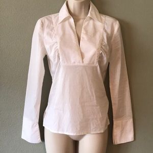 Guess sheer fitted blouse size XS